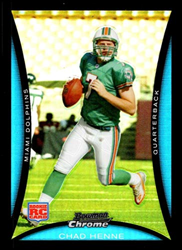 2008 Bowman Chrome Refractors #BC60 Chad Henne NM-MT Miami Dolphins Official NFL Football Card
