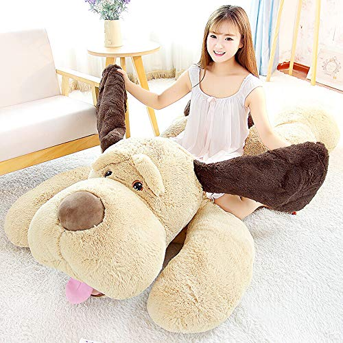 MorisMos Puppy Dog Stuffed Animal Soft Plush Dog Pillow Big Plush Toy for Girls Kids (Large-55 Inch)