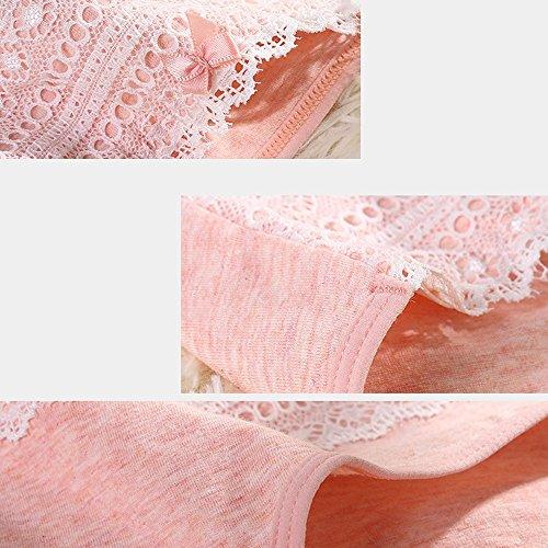 Hembra de algodón entrepierna linda no rastro en la cintura briefs (3 cargado) ( Color : 3# , Tamaño : L ) 6#