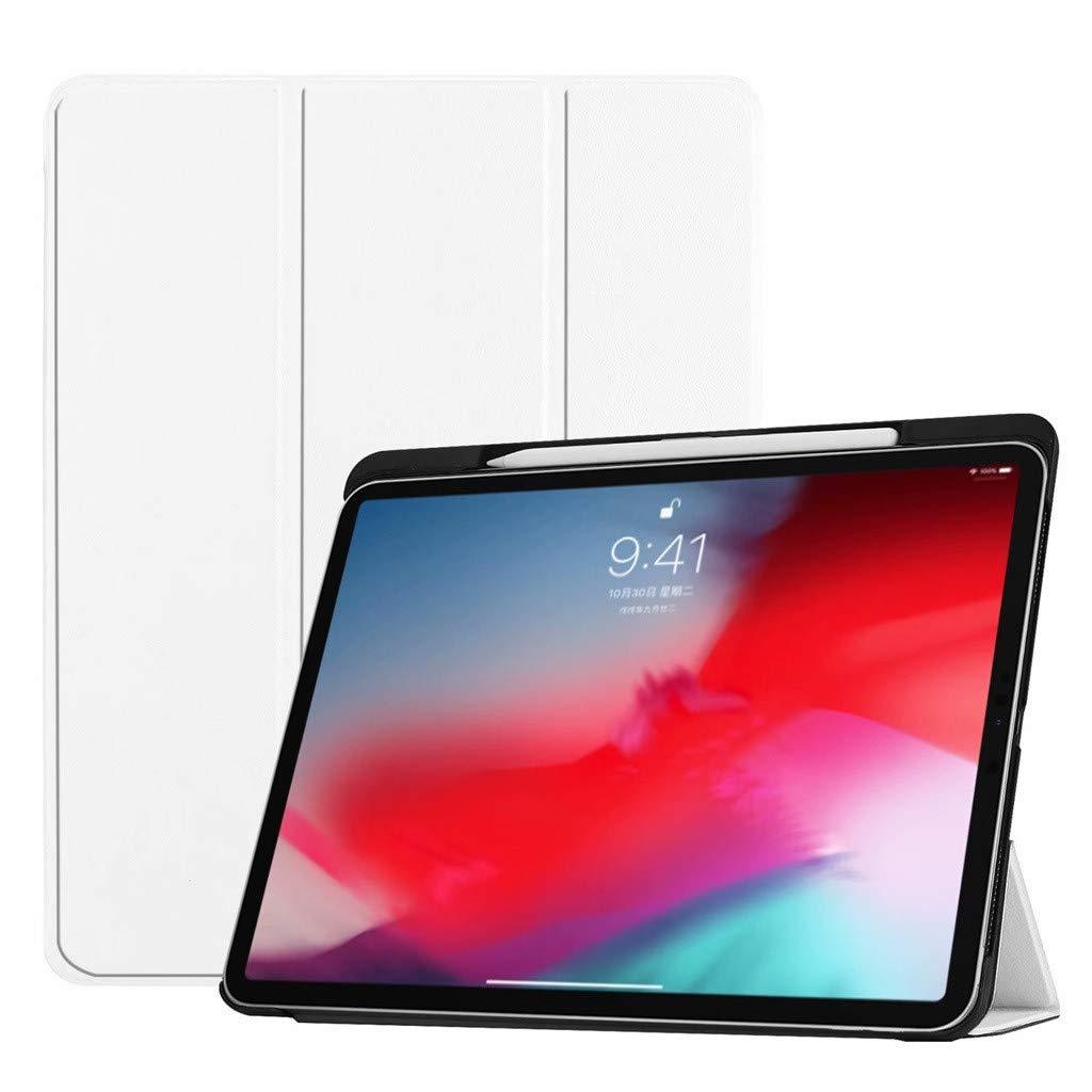 値段が激安 iPad Pro スリム Pro 12.9インチ 2018アタッチメント スリム ベージュ フォリオケース ウェイク/スリープスタンドカバー クラシックケースカバー Apple Pencilホルダー付き ベージュ ホワイト B07KV1NZR8, アジアン家具 Q-STYLE:6371c12f --- a0267596.xsph.ru