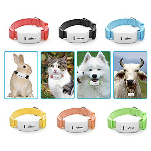 Finetoknow Mini Pet GPS Locator Real-time Tracking Overspeed Alert for Dog Cat Mobile Phone
