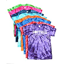 "Softball Tie Dye T-Shirt - Softball with Ball ""Play Tough, Get Dirty"" Logo"