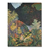 This ready to hang, gallery wrapped art piece features a landscape of trees. Paul Gauguin was a leading Post-Impressionist painter. His bold experimentation with coloring led directly to the Synthetist style of modern art while his expression of the ...