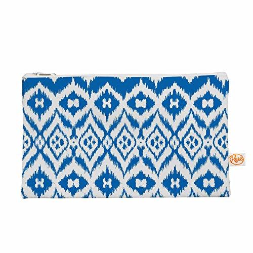 Kess eigene 12,5x 21,6cm Victoria Krupp VK _ Ikat Tribal Alles Tasche–Blau