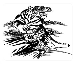 Chinese Tiger Design Rectangle Mouse Pad Wild Tiger