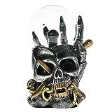 The Geeky Days Viking Skull Statue Figurine Electric Touch Sense Plasma Ball Lightning Skeleton Head Sculpture Holloween Decorations