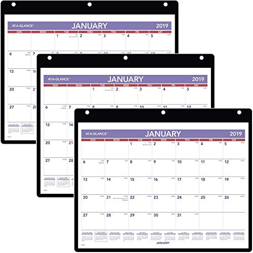 AT-A-GLANCE 2019 Monthly Desk/Wall Calendar, 11