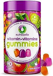 NUTRACELLE NUTRAMIN Daily Vegan Keto Multivitamin Gummies Vitamin C, D3, and Zinc for Immunity, Plant-Based, S