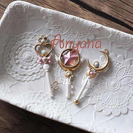 Anyana princesa hada corona Star Moon varita mágica Fondant molde de silicona molde de tarta: Amazon.es: Hogar