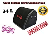 Car Cargo Storage Trunk Organizer 34L Auto Boot Folded Bag Premium Quality Durable First Aid Emergency Kit Box Cargo Tray Universal Vehicle Fit Buick Enclave Encore LaCrosse Envision Verano