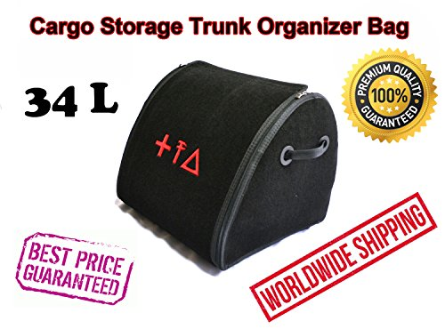 Car Cargo Storage Trunk Organizer 34L Auto Boot Folded Bag Premium Quality Durable First Aid Emergency Kit Box Cargo Tray Universal Vehicle Fit Jaguar X-type E-type F-pace F-type XF XJ XK XJS by Matbox