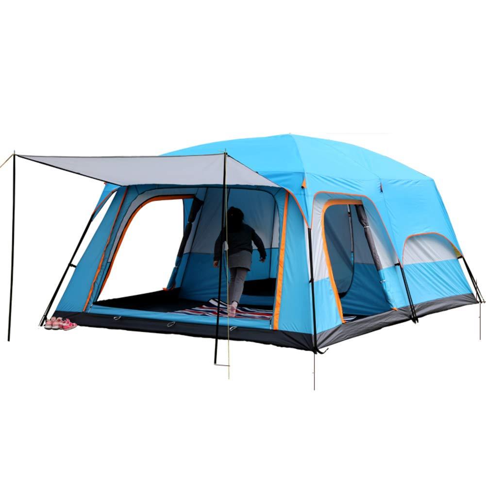 TonXiory Outdoor-Camping Zelt,6-8 Personen regendichte regendichte regendichte Sonnenschutz Zelt,Mehreren Personen Zelt Sonne picknicktische-Blau 310x210x185cm(122x83x73inch) B07Q2FD493 Kuppelzelte Qualität zuerst 808c75