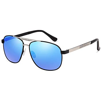 fd554d77f2 Amcer Gafas de Sol polarizadas para Hombres con 100 UVA y protección UVB  para Conducir Pesca Golf Sports Silver Frame - Blue Lens: Amazon.es:  Deportes y ...