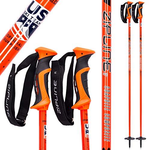 "Ski Poles Graphite Carbon Composite - Zipline Blurr 16.0 - U.S. Ski Team Official Supplier (Orioles Orange, 48"" in./122 cm)"