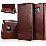Excelsior Leather Wallet Flip Cover Case for Samsung Galaxy S7 Edge  Brown