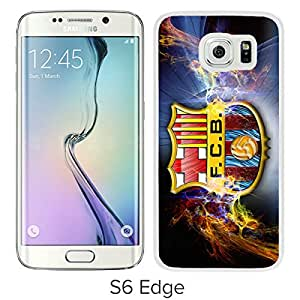 New Fashion Custom Designed Skin Case For Samsung Galaxy S6 Edge With Barcelona White Phone Case 2