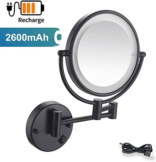 Amazon.  LED Lighted Wall Mount Mirror, Oil Rubbing Bronze