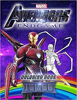Marvel Avengers End Game Jumbo Coloring Book Amazing Coloring Book