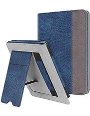 Fintie Hoes voor Kindle Paperwhite (Fits All-New 10th Generation 2018 / All Paperwhite Generations) –Premium PU-leer Stand Protective Cover met Kaartsleuf en Handband, Denim Navy