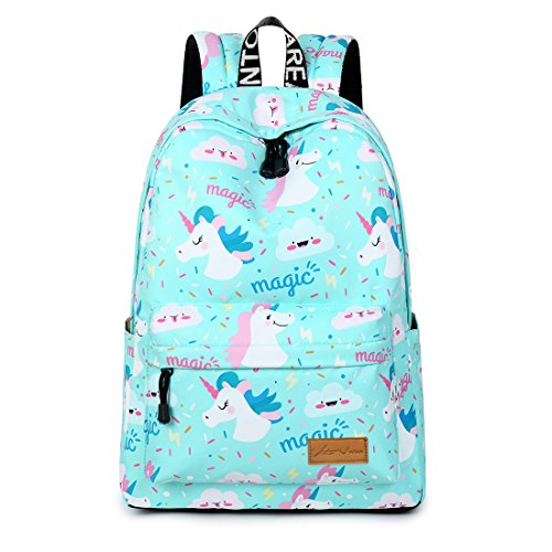 VentoMarea Lightweight Canvas Backpacks School Bag Casual Travel Daypacks