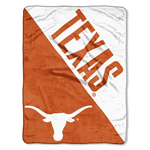 (The Northwest Company Officially Licensed NCAA Texas Longhorns Halftone Micro Raschel Throw Blanket, 46