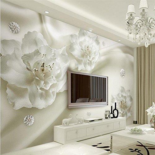 Wapel Custom Photo Wallpaper 3D Mural Aesthetic Light Luxury Silk Flowers European Style 3D Tv Walls 200Cmx140Cm