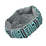 Refaxi 1x Blue Pet Dog Cat Bed Simple Puppy Cushion Room Warm Kennel Dog Pad Blanket New