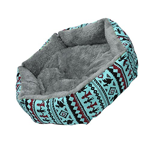 Refaxi 1x Blue Pet Dog Cat Bed Simple Puppy Cushion Room Warm Kennel Dog Pad Blanket New by ReFaXi