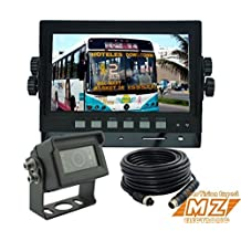 """Wired Rear View Backup Reverse Camera System Cab Observation Cam System Kit, 7"""" Monitor+one Waterproof Ir Ccd Camera for Forklift, Oversize Load Truck, Box Truck"""