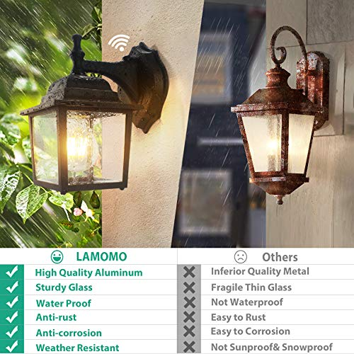 """PACK OF 4 WALL SCONCES LED SOLAR OUTDOOR STURDY PLASTIC BLACK PORCH LIGHTING 8/"""""""
