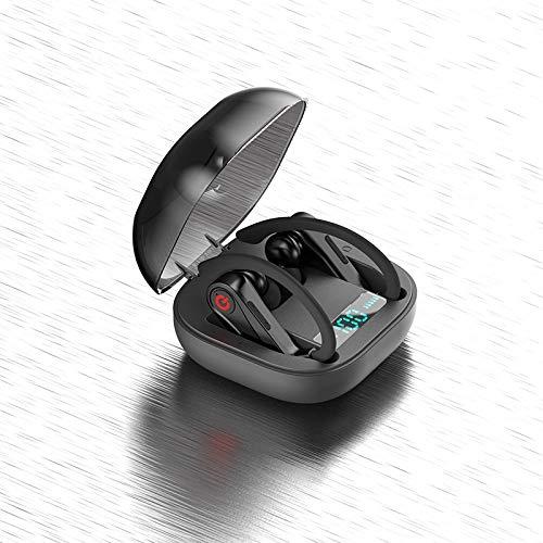 LKJG Sports Wireless Bluetooth 5.0 earphone Noise Reduction Earbuds Charging Case Waterproof Ear Hook Stereo Sound…