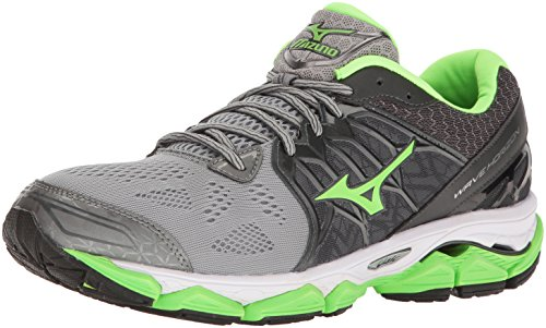(Mizuno Men's Wave Horizon Running Shoe, Dark Slate/Green Flash, 10 D US)