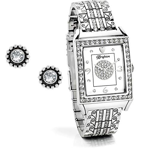 Brighton Twinkle Diamond Bar Gift Set [Earrings, Watch] (Brighton Jewelry Watches)