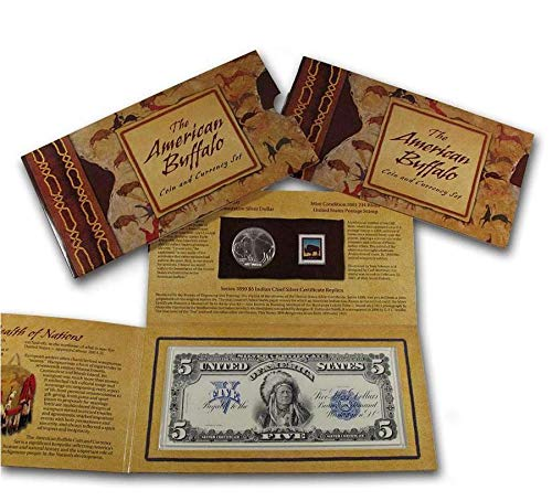 2001 D American Buffalo $1 Coin and Currency Set Uncirculated