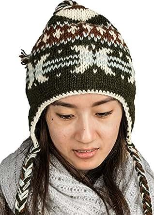 Tribe Azure Fair Trade Warm Soft Winter Wool Hat Cap