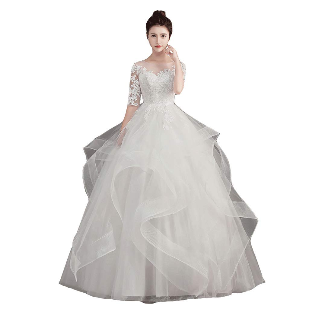 Forest Wedding Dress OneShoulder Wedding Dress High Waist Wedding Dress Pregnant Woman Wedding Dress (Size   XL)
