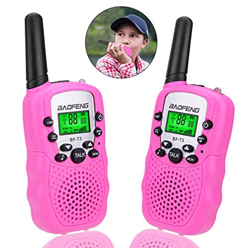 Toys for 3-12 Year Old Girls, Kids Walkie Talkies for Kids Toys for 3-12 Year Old Girls Gift for Age 3-12 Girls Pink