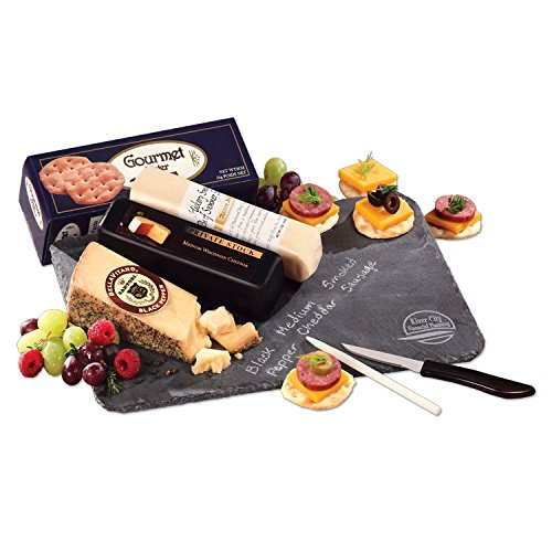 - Genuine Slate Serving Plate with Wisconsin Cheese & Sausage12 PACK w/ YOUR LOGO or ARTWORK