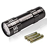 HUNTERSEYES MINI UV Flashlight, 395 NM Pets Urine Detection and Stains Detector,High efficiency inspector, Hotel Fixes Vidicon Detector