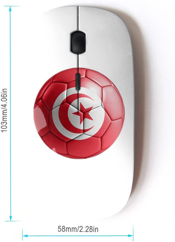 STPlus Puerto Rico Puerto Rican Soccer Football Ball Flag 2.4 GHz Wireless Mouse with Ergonomic Design and Nano Receiver