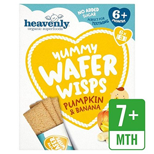 Heavenly Organic Yummy Wafer Wisps Pumpkin & Banana - 84g (0.19lbs)