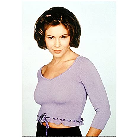 Charmed Alyssa Milano As Phoebe Cleavage Standing Pretty