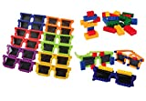 U.S. Toy Block Mania Party Bundle | Toy Sunglasses & Building Bricks Block Party Favors