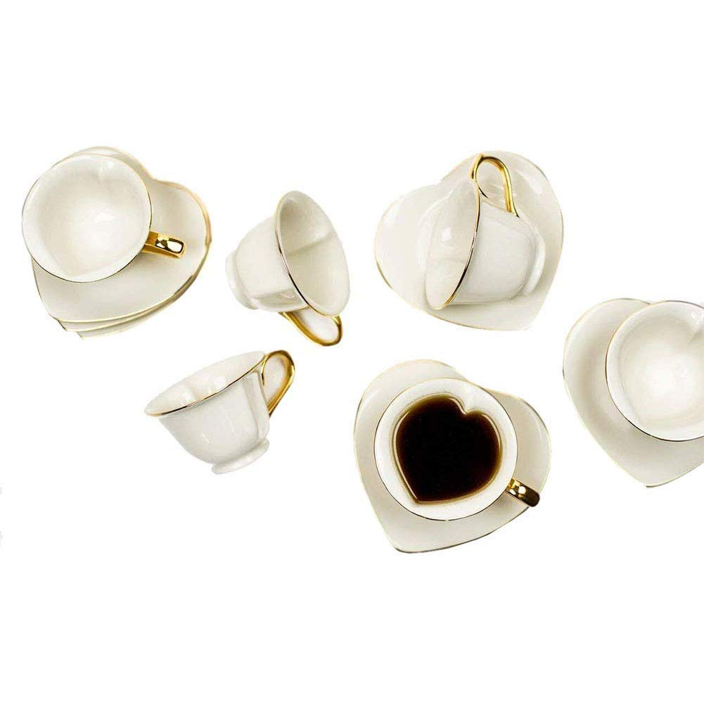 Yedi Cup & Saucer 6.5 Oz (Set Of6) - Cream SYNCHKG082899