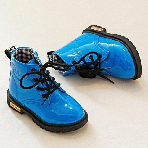 Clode® Baby Jungen Mädchen Martin Sneaker Winter Warm Dick Schnee Baby Stiefel Schuhe Blau