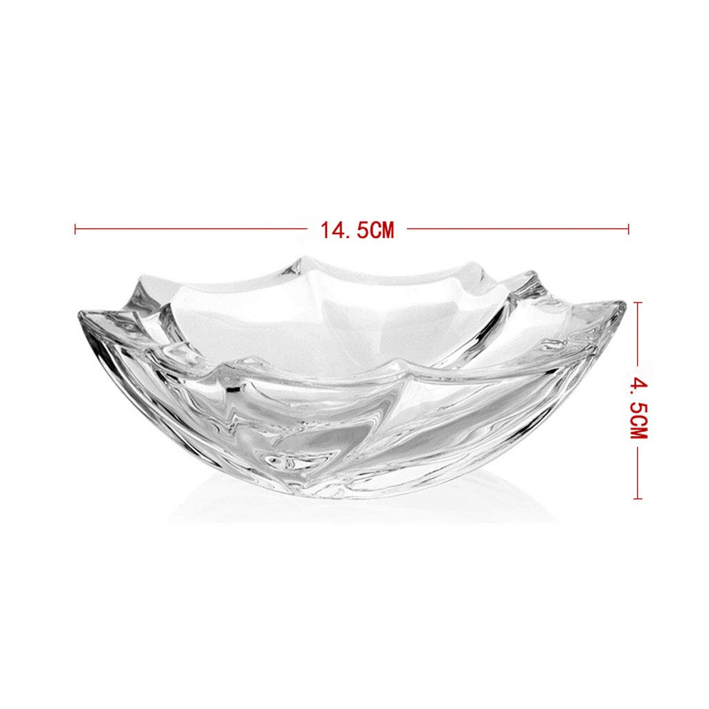 ZDD Thickened Crystal Glass Ashtray/Creative Personality Home Practical Ashtray/Decorative Ornaments Gift Transparent (Two Optional) (Size : B)