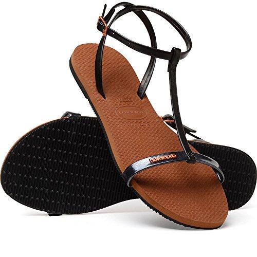 Transversalisation Chaussures Femme Black Cuir Colorées Sangle Avec De Pour Sport Havaianas Et Écologique En Sangles 7qdSw