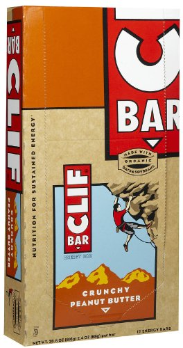 Clif Bar Energy Bars, Crunchy Peanut Butter, 2.4-Ounce Bars (12 Count)