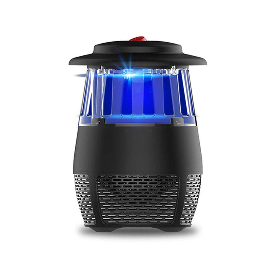 Electronic Mosquito Killer Indoor UV Light Mosquito Trap Inhaled Mosquito Killer Fly Killer USB Charger for Home Office Use (Black)
