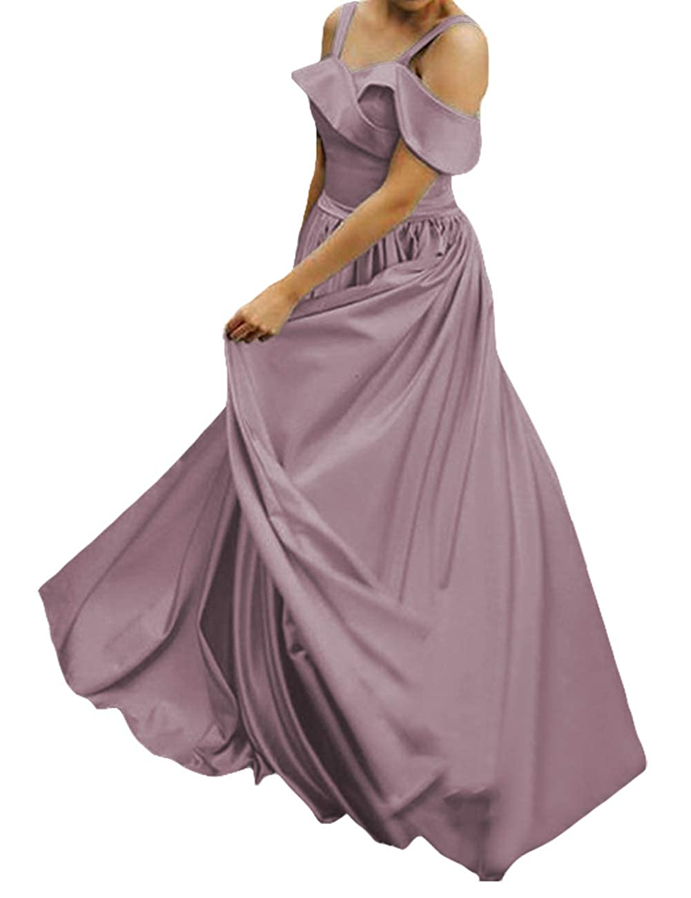 Dusty Lavender JAEDEN Prom Dress Long 2019 Gowns and Evening Dresses A Line Birthday Dress A Line Evening Gowns Satin